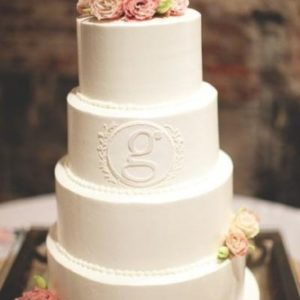 Тортик с букетиками живых роз