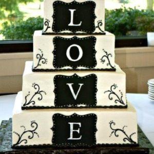 Торт «LOVE» с росписью