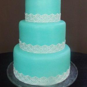 Бирюзовый торт с айсингом