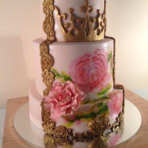 Виртуозный торт с мастикой и рисунком