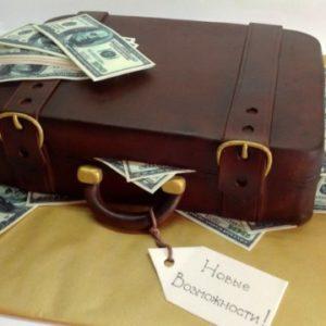 Тортик «Чемодан з цукровими грошима»