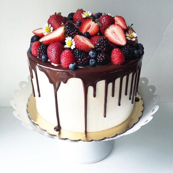 Торт политый шоколадом