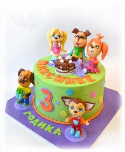 Детский торт на заказ с персонажами мультфильма Щенячий патруль