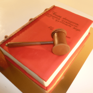 Торт-книга про великую женщину