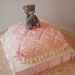 Тортик «подушка» с милым  Тедди