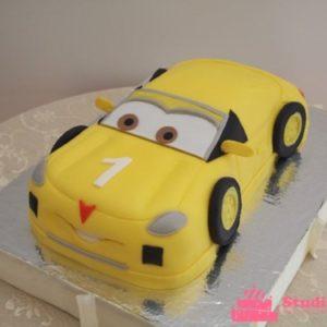 Жёлтый торт-машина