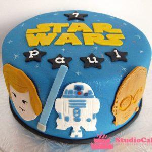 Синий торт на тему Звёздных войн