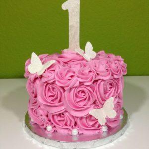 Торт кремовые розы