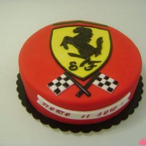 Тортик з емблемою феррарі