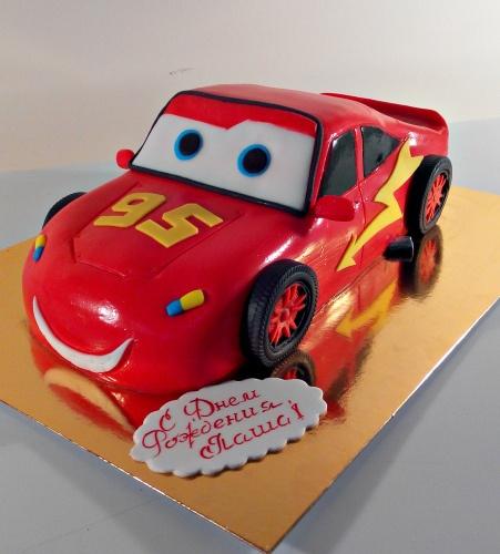 Детский торт на заказ - Молния Маквин