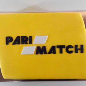 Тортик з емблемою «Парі-матч»
