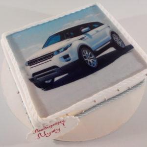 Торт з автомобілем RANGE ROVER