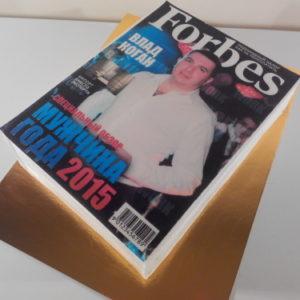 Торт у вигляді журналу Forbes