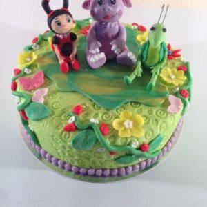 Торт-галявина з героями Лунтика