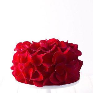 Торт — лепестки роз
