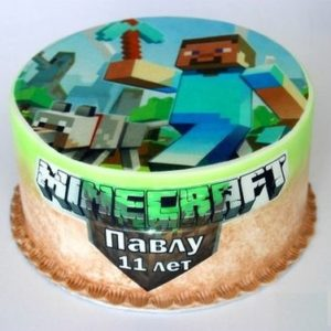 Торт майнкрафт (Minecraft) фото