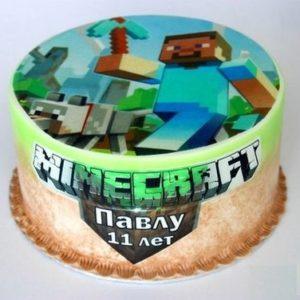 Торт майнкрафт (Minecraft)