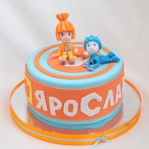 Разноцветный торт с фиксиками