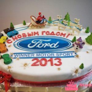 Новогодний тортик с гербом Ford