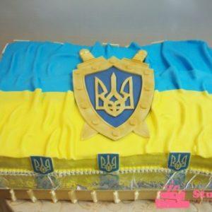 Торт-флаг Украины с Гербом