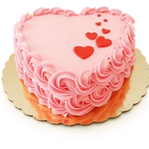 Торт розовое сердце
