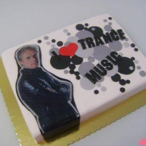 Торт з малюнком «Music Trance»
