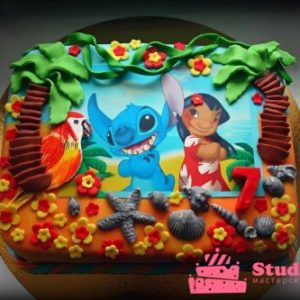Торт «Лило и Стич»