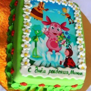 Тортик з малюнком Лунтика