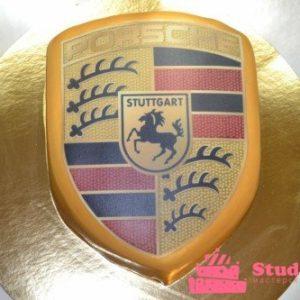 Торт «Емблема Porsche»