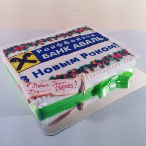 Квадратный тортик на Новый Год