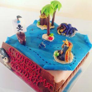 Торт-карта з піратським скарбом