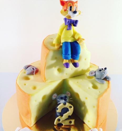 Детский торт на заказ - Приключения кота Леопольда
