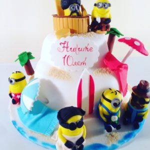 Летний торт с миньонами