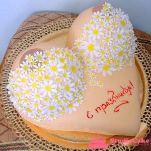 Торт «Цветочный бюст»