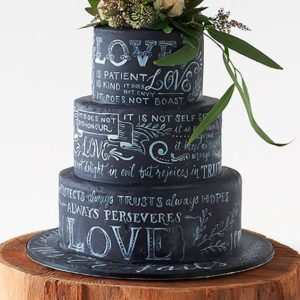 Торт с росписью любви