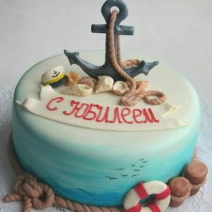 Морской торт с  якорем