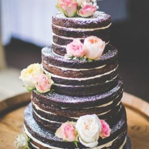 Открытый торт стиль рустик