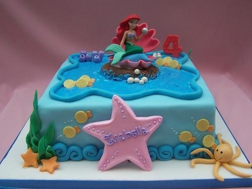 Торт русалочка фото