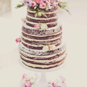 Открытый торт c цветами