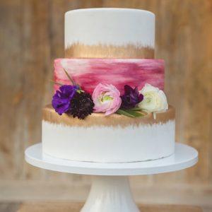 Виртуозный торт с позолотой