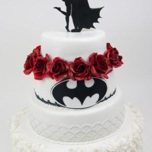 Червоно-білий торт тематичний