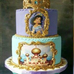 Чудовий торт з малюнками з мультфільму «Алладін»