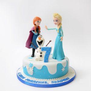 Торт «Холодне серце»