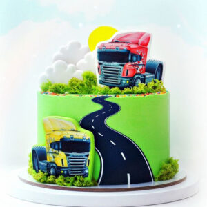 Торт з малюнком вантажної машини