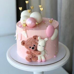 Торт з ведмедиком і поні для дівчинки