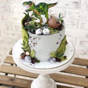 Торт с рисунком динозавра