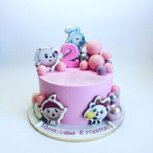Торт для девочки «Смешарики»