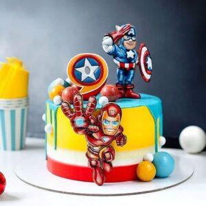 Торт «Капітан Америка та Залізна Людина»