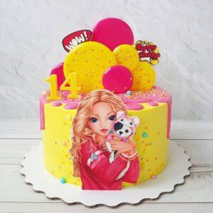 Торт на 14 років дівчинці