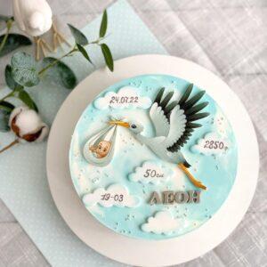 Двох'ярусний торт на 2 роки дівчинці